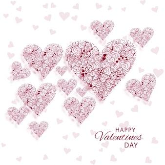 De dag van achtergrond abstracte decoratieve hartenvalentijnskaart illustratie