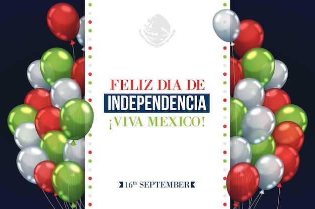 De dag van de onafhankelijkheid van mexico achtergrond