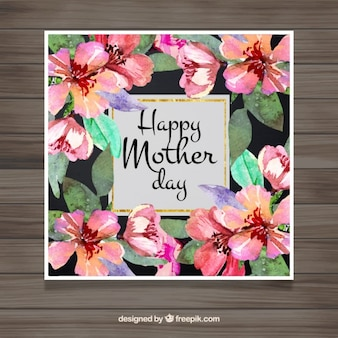 De dag van de waterverf bloemrijke moeder groet