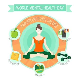 De dag van geestelijke gezondheid met infographics