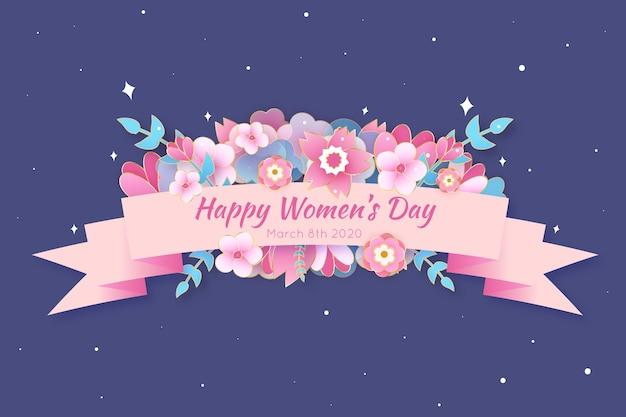 De dagachtergrond van bloemenvrouwen