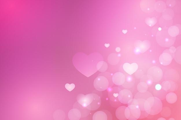 De dagachtergrond van de eenvoudige vage valentijnskaart