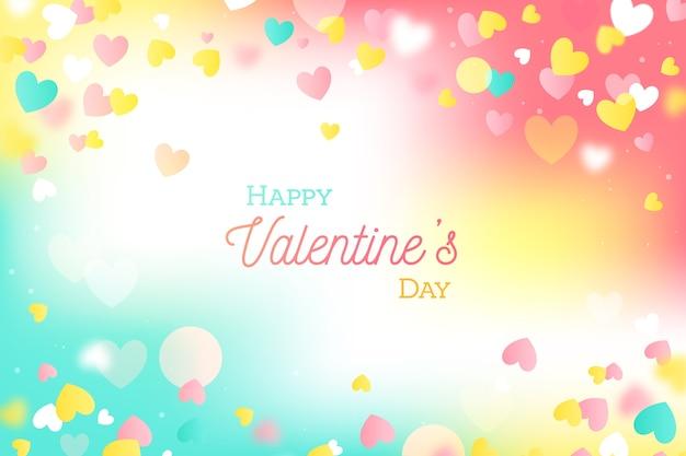 De dagachtergrond van de kleurrijke vlakke valentijnskaart