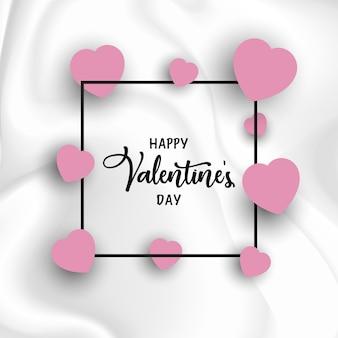 De dagachtergrond van de valentijnskaart met harten op marmeren textuur