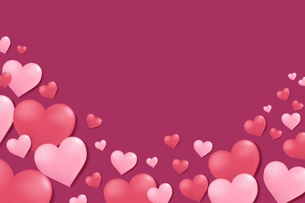 De dagachtergrond van de valentijnskaart met harten.