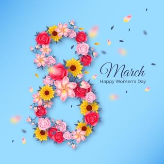 De dagconcept van bloemenvrouwen
