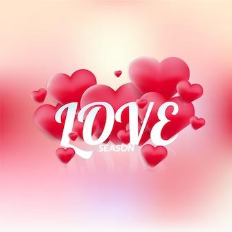 De dagkaart van de gelukkige valentijnskaart, liefdeseizoen en hartenelement, moderne typografie. vector illustrator