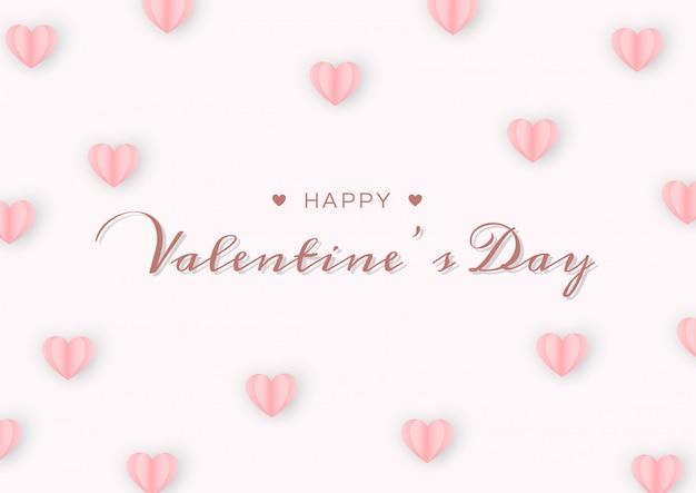 De dagkaart van de gelukkige valentijnskaart met document hart