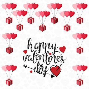De dagkaart van de gelukkige valentijnskaart met lichte achtergrond