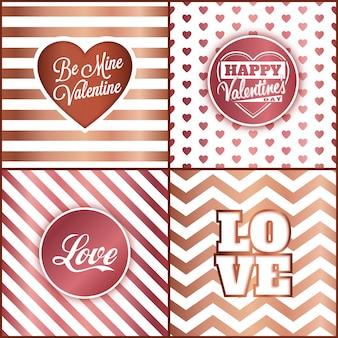 De dagkaart van de valentijnskaart die met roze gouden elementen wordt geplaatst