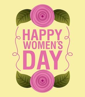De dagkaart van gelukkige vrouwen