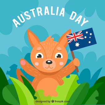 De dagontwerp van australië met babykangoeroe
