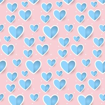 De dagpatroon van leuke romantische bloemenharten valentijnskaart