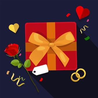 De dagvlieger of affiche van de gelukkige valentijnskaart