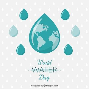 De dalingen van het wereld water dag