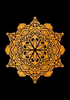 De designachtergrond van een luxe mandala-ornament met een eenvoudig motief