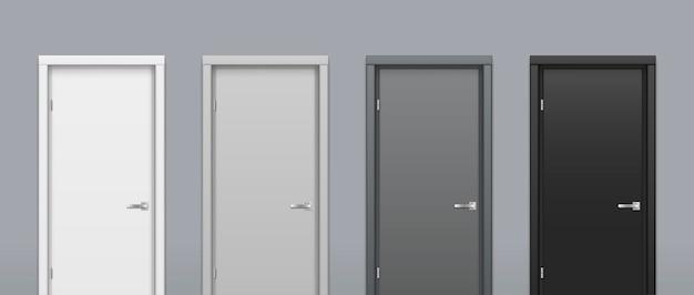 De deuren van verschillende kleuren