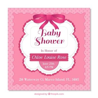 De doucheuitnodiging van de baby voor een meisje