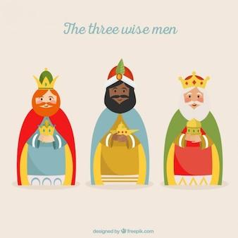 De drie wijze mannen illustratie