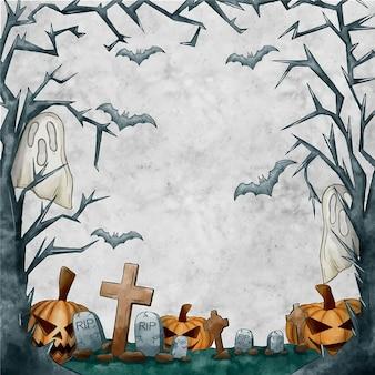 De droge boom vertakt zich halloween-de ruimte van het kaderexemplaar