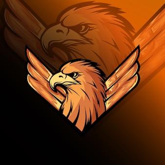De eagle mascot logo e sport