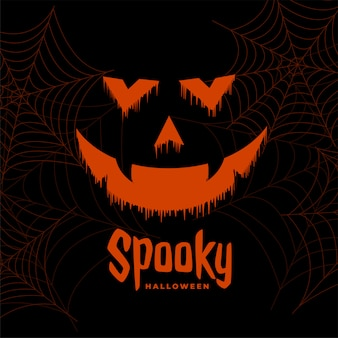 De enge gelukkige halloween-achtergrond van het spookgezicht