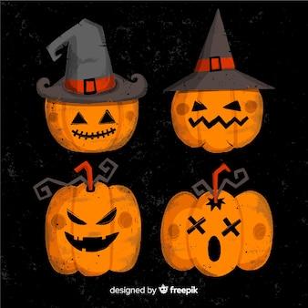 De enge halloween-inzameling van de pompoenheks