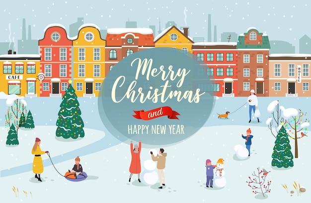 De felicitatie van de prettige kerstdagen en een gelukkig nieuwjaar.