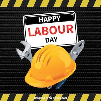De gelukkige dag van de arbeid achtergrond van de helm