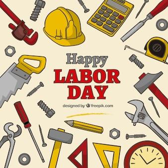 De gelukkige dag van de arbeid achtergrond