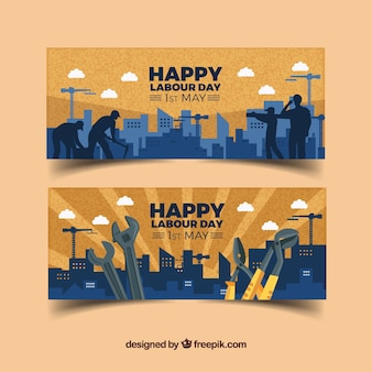 De gelukkige dag van de arbeid banners