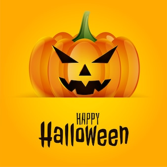 De gelukkige enge griezelige achtergrond van de pompoenkaart van halloween