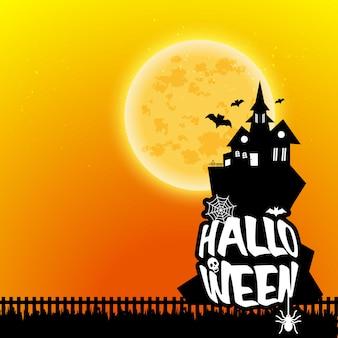 De gelukkige enge nachtachtergrond van halloween