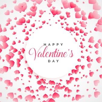 De gelukkige harten die van de valentijnskaartendag achtergrond begroeten