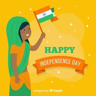 De gelukkige indische achtergrond van de onafhankelijkheidsdag