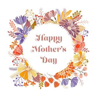 De gelukkige kaart van de groet van de moederdag