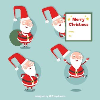 De gelukkige kerstman collectie in plat design