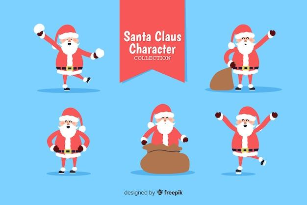 De gelukkige kerstman in zijn rood en wit kostuum
