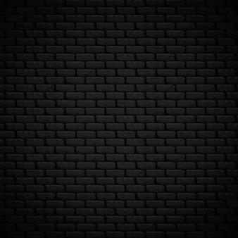 De geweven vectorillustratie van de achtergrond realistische donkere metselenmuur