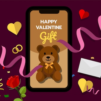 De gift van de gelukkige valentijnskaart
