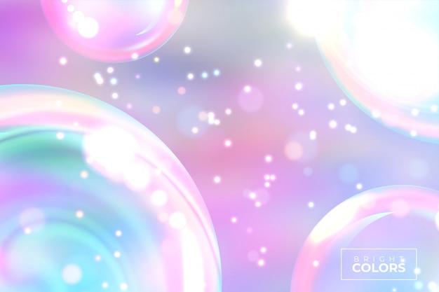 De gloeiende moderne achtergrond van gradiëntneonballen.
