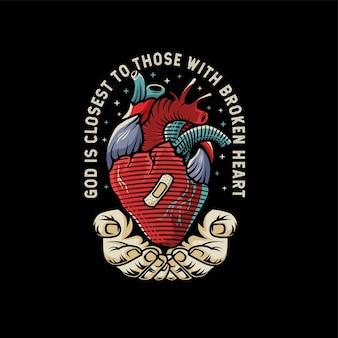 De god hand geneest gebroken hart