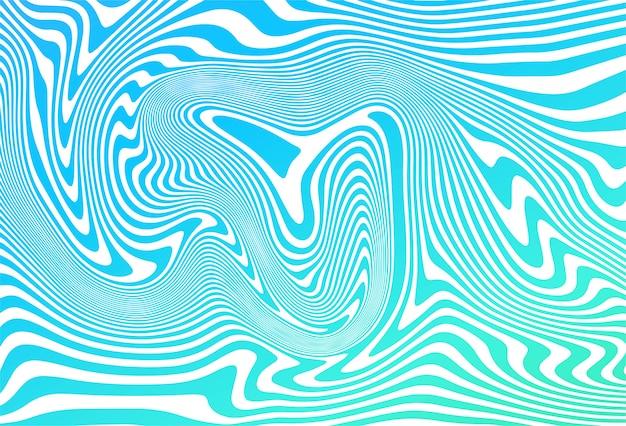 De golfachtergrond van zigzag diagonale blauwe lijnen
