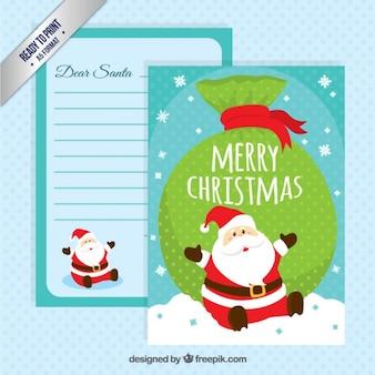 De grappige kerstman briefsjabloon