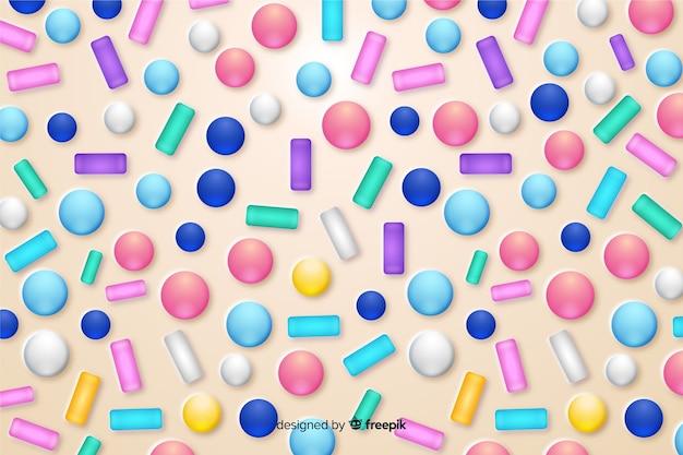 De grappige kleurrijke achtergrond van de doughnutglans
