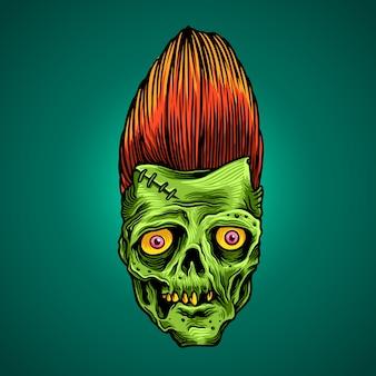 De groene zombie