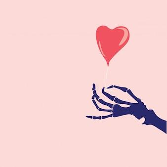 De groeten van de valentijnskaartendag, het kader van de hartvorm, vectorillustratie
