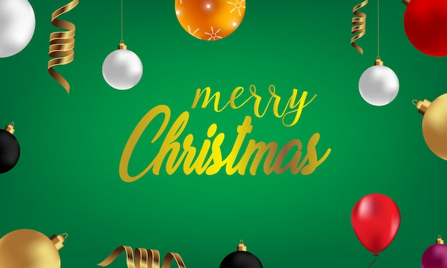 De groetkaart van kerstmis, ontwerp van kerstmisballen