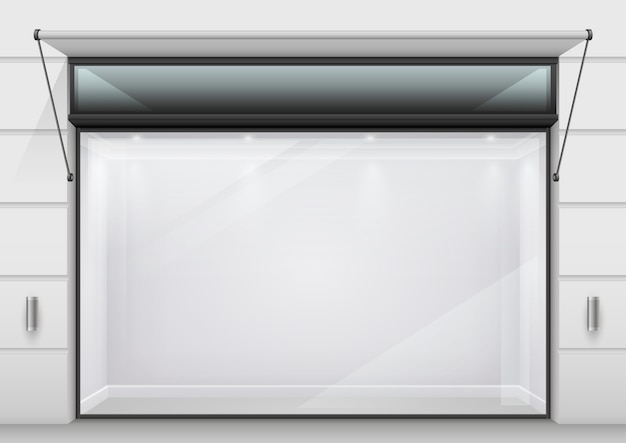 De grote glazen vitrine