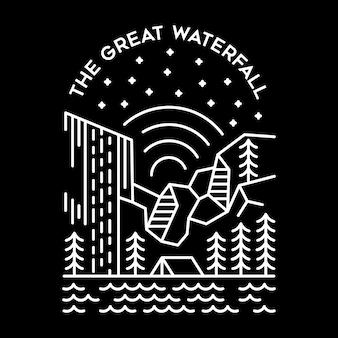 De grote waterval